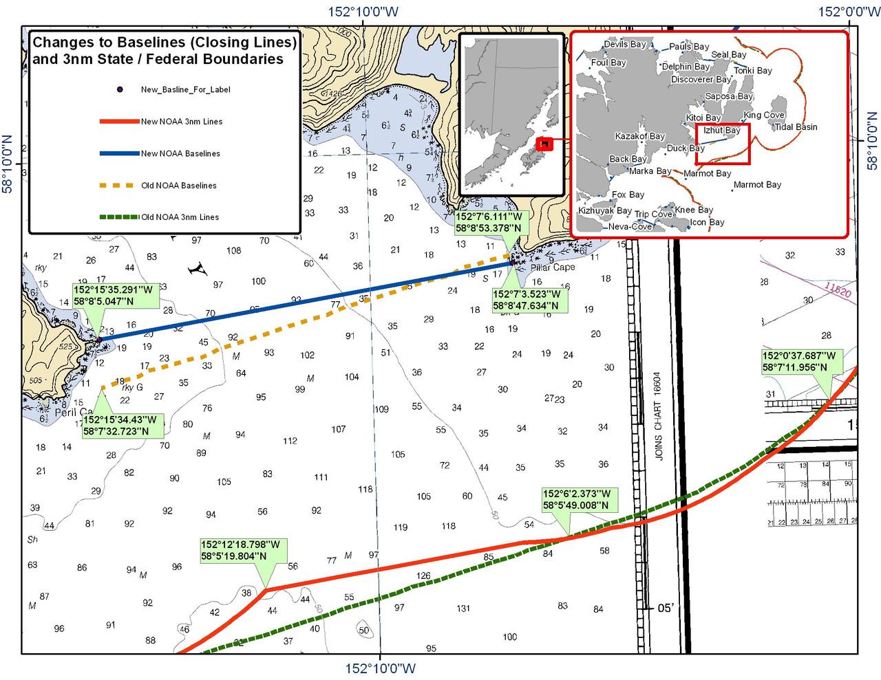 Chart for Izhut Bay
