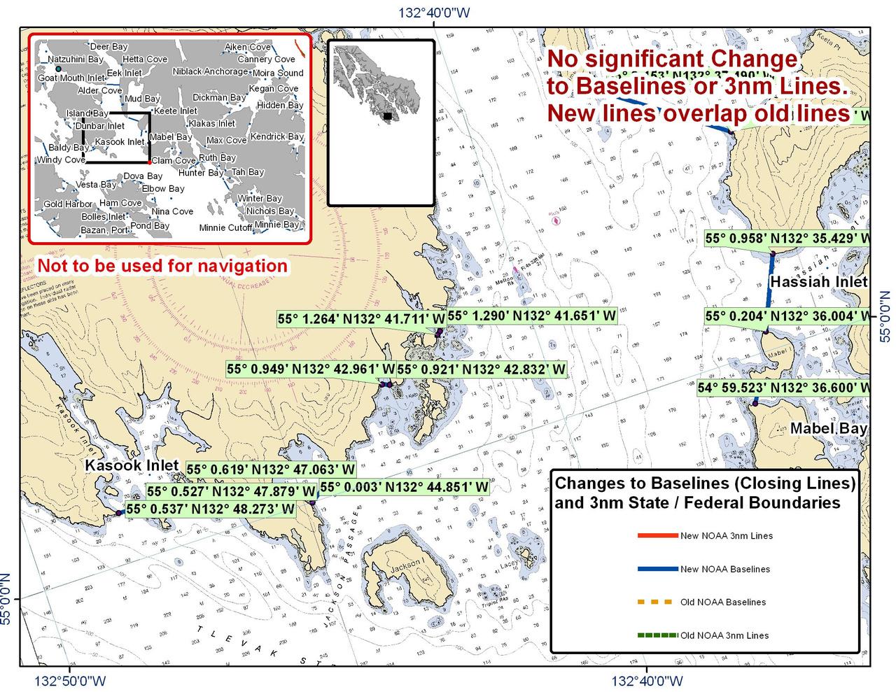 Chart for Kasook Inlet