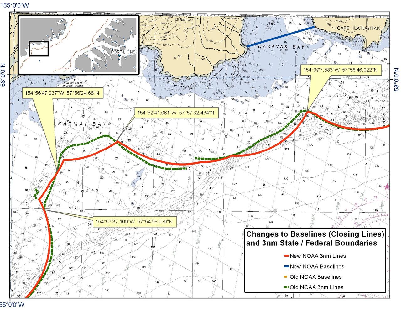 Chart for Katmai Bay