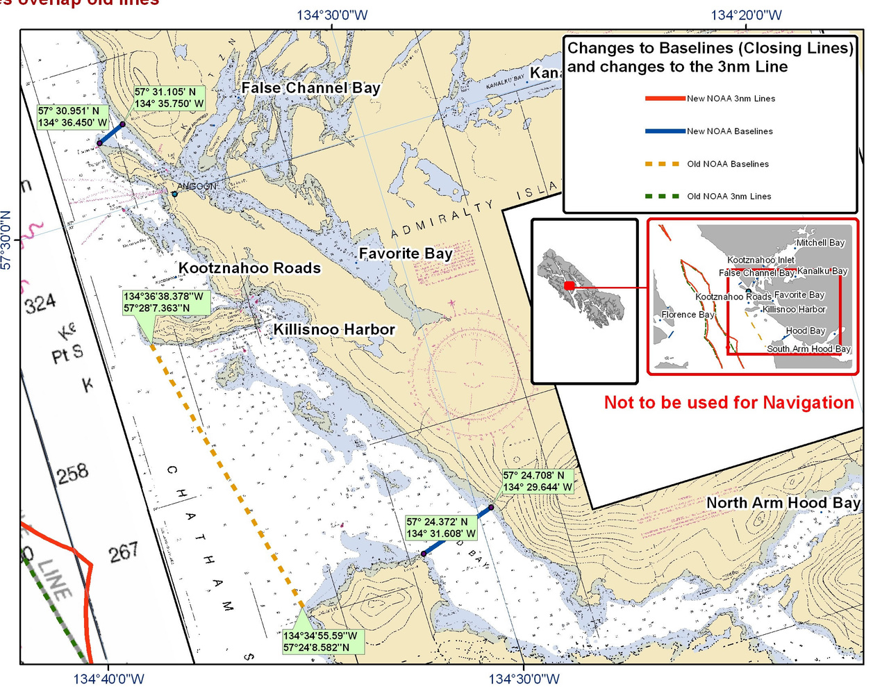 Chart for Killisnoo Harbor and the Surrounding Area