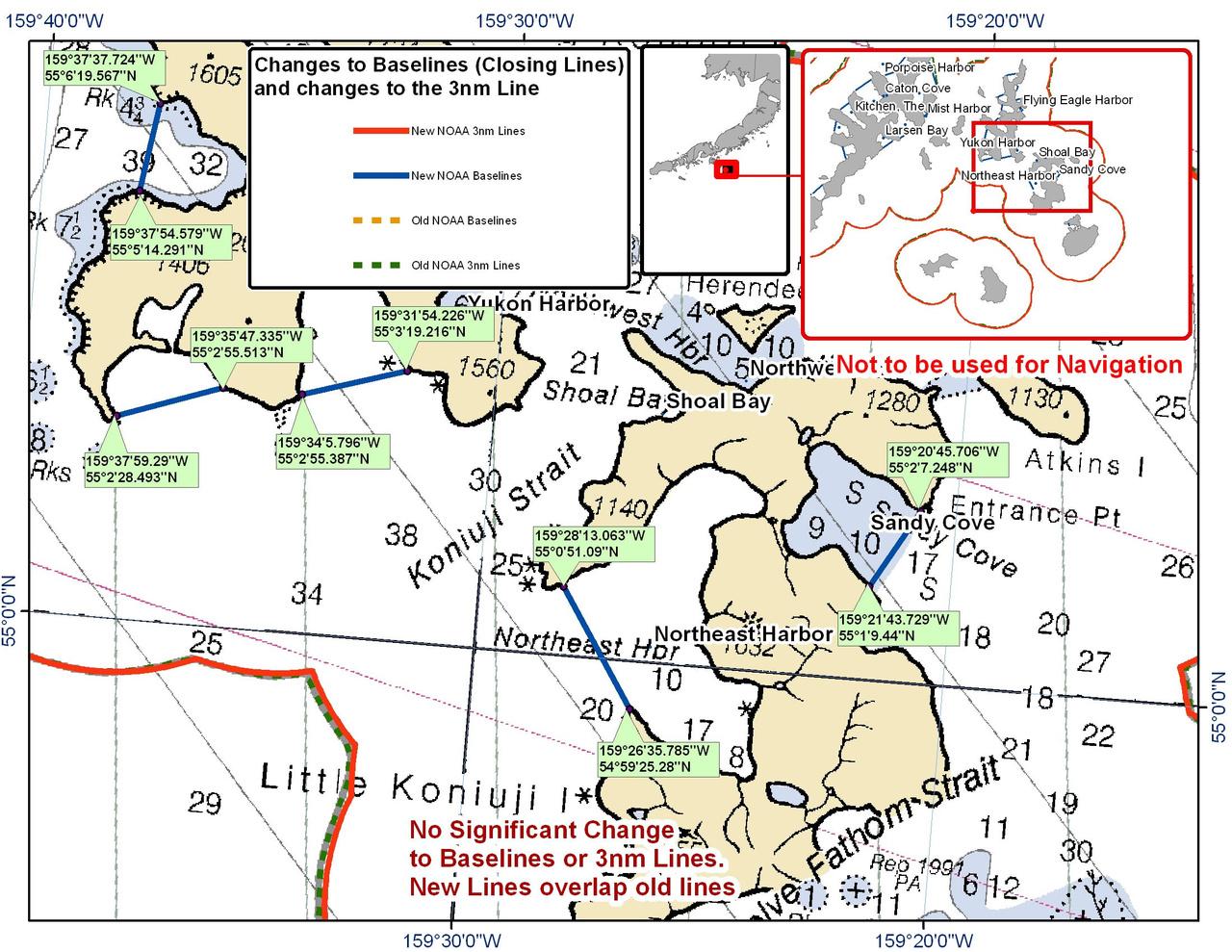 Chart for Koniuji Strait