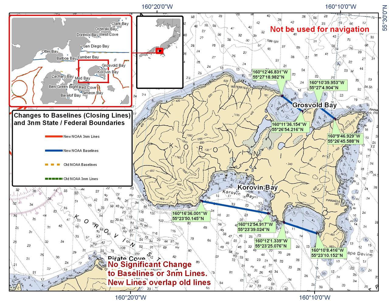 Chart for Korovin Island