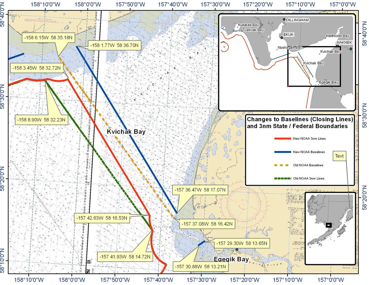 Chart for Kvichak Bay