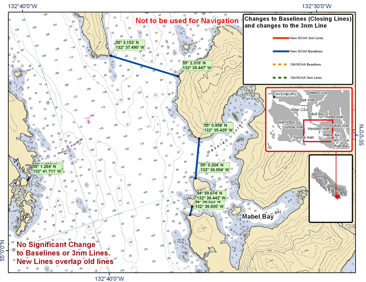 Chart for Mabel Bay and the Surrounding Area