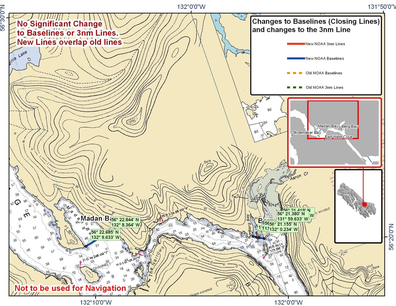Chart for Madan and Berg Bay