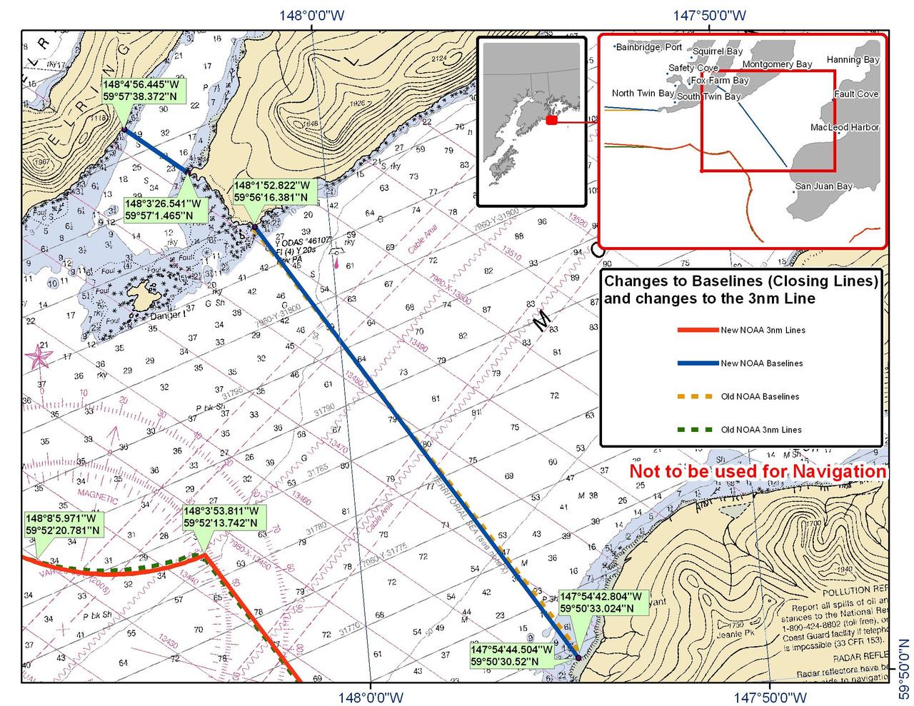 Chart for Montague Strait