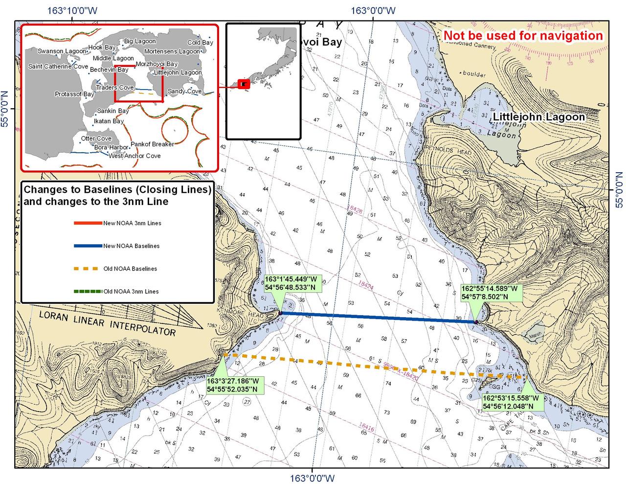 Chart for Morzhovoi Bay
