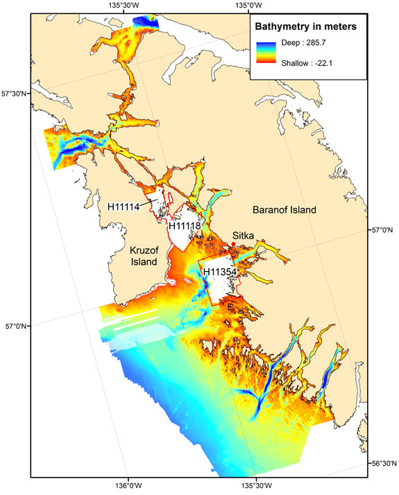 Multibeam Data of Central Gulf of Alaska