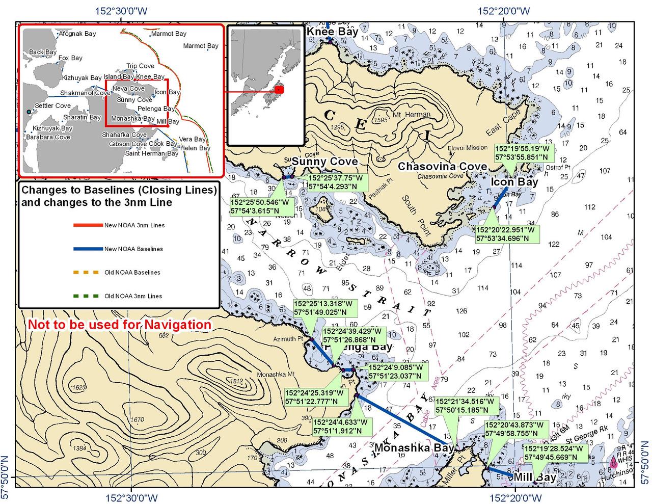 Chart for Narrow Bay and Monashka Bay