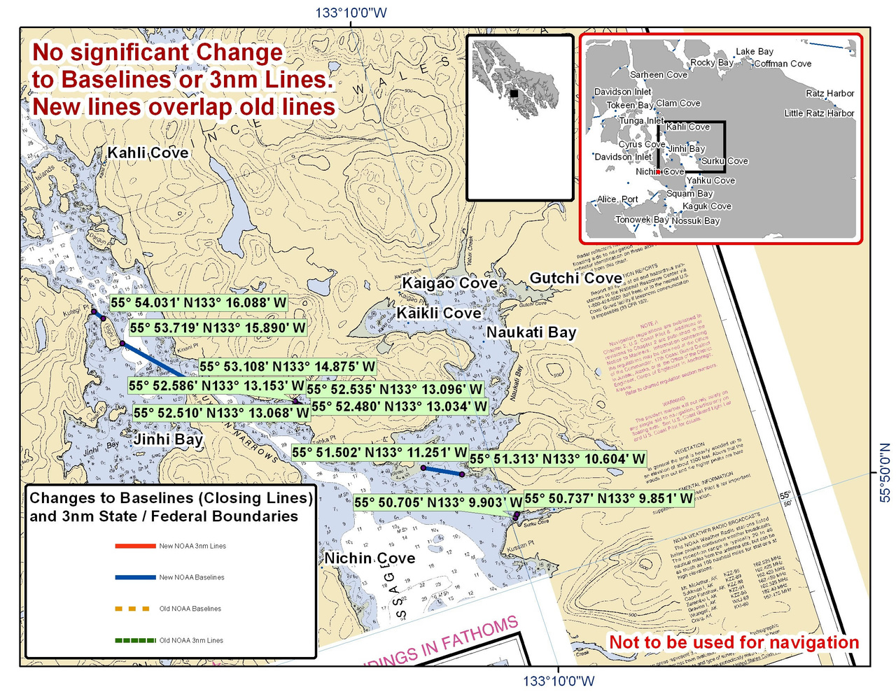 Chart for Naukati Bay and the Surrounding Area