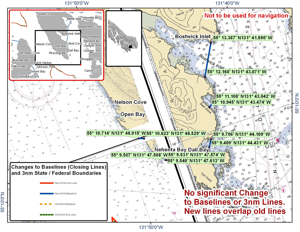 Chart for Nehenta Bay and Bostwick Inlet and the Surrounding Area