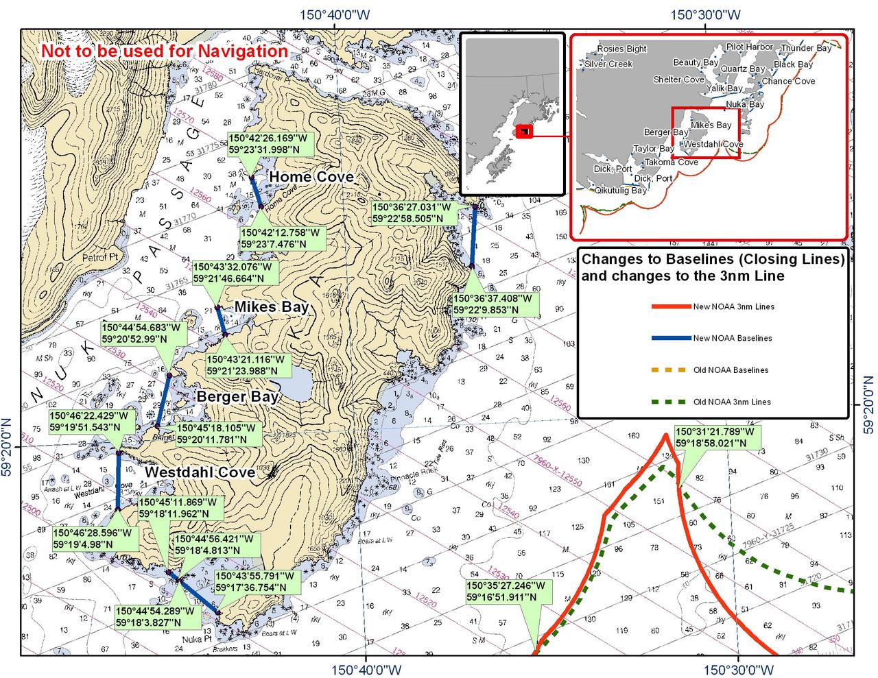 Chart for Nuka Island