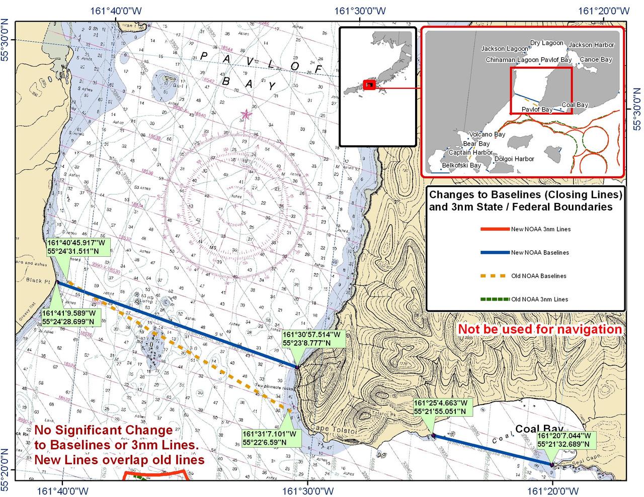 Chart for Pavlof Bay and Coal Bay