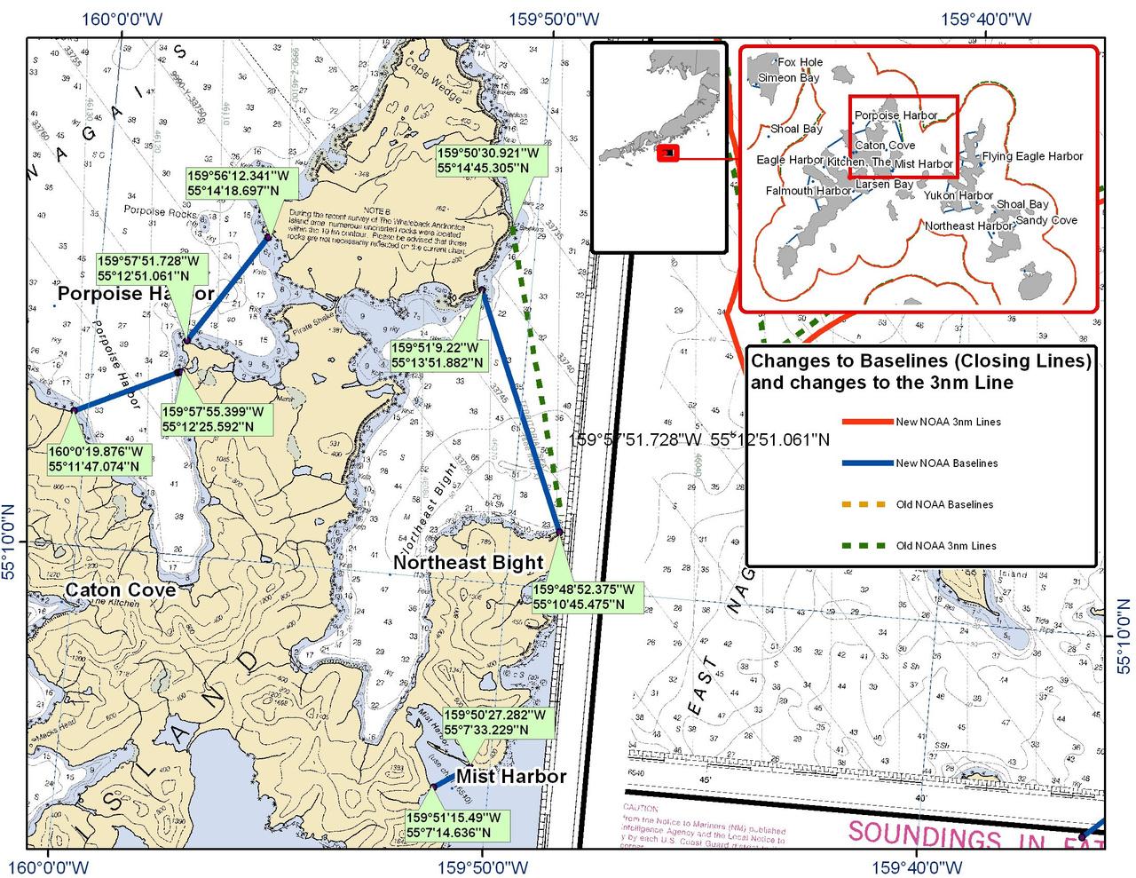 Chart for Porpoise Harbor