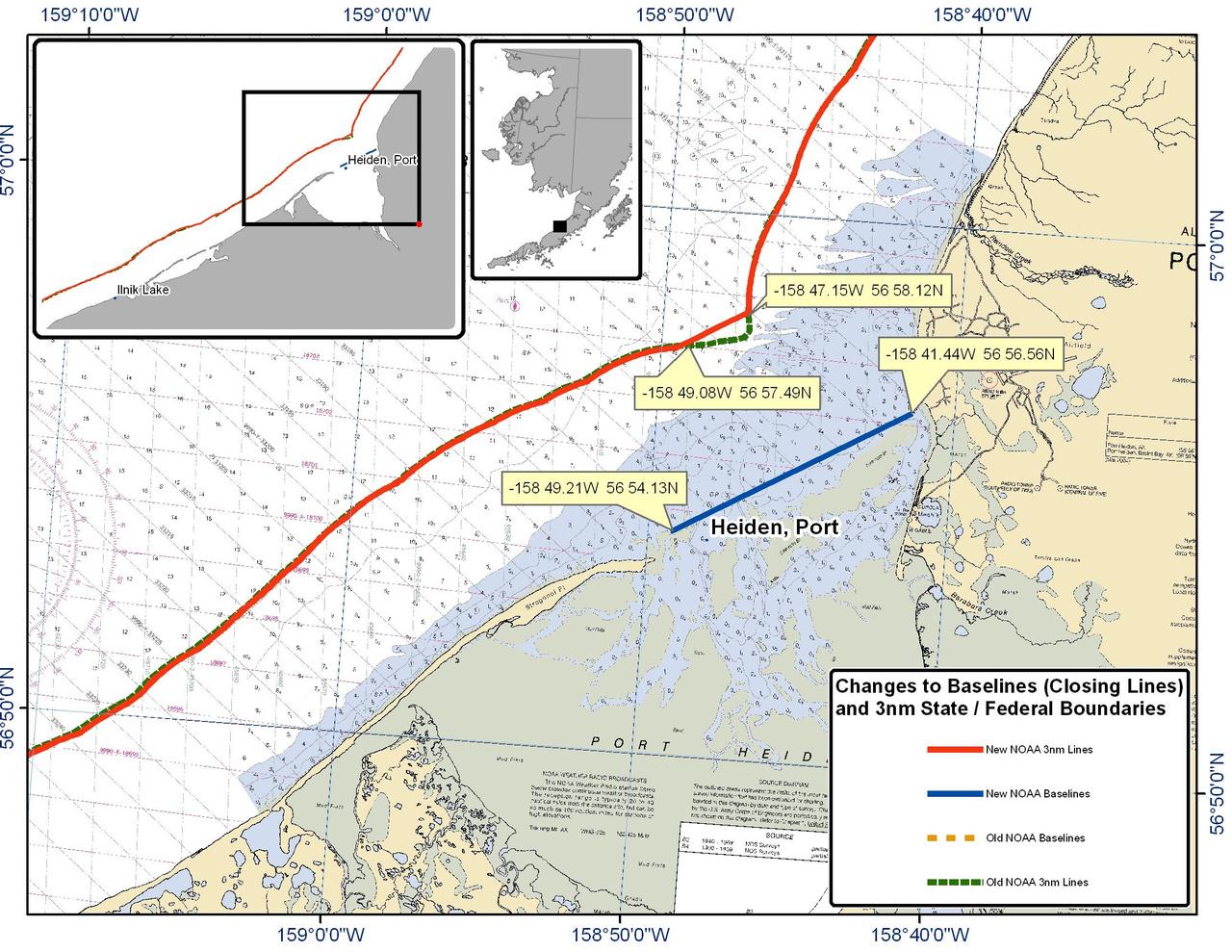 Chart for Port Heiden