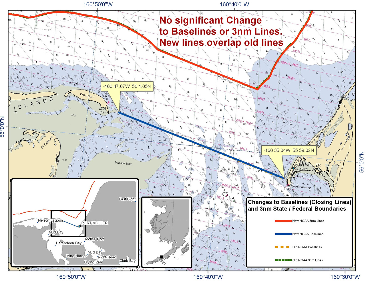 Chart for Port Moller