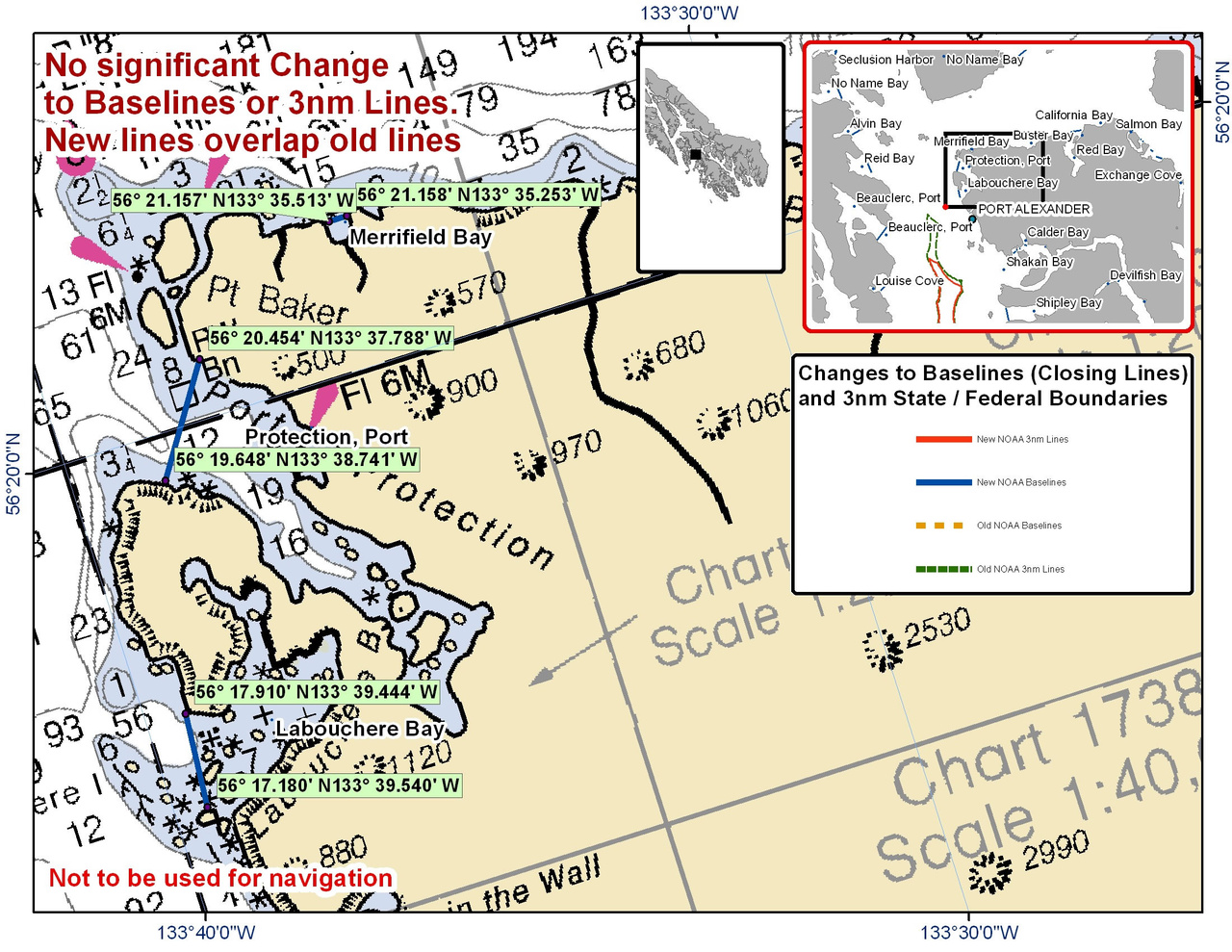 Chart for Port Protection and Merrifield Bay