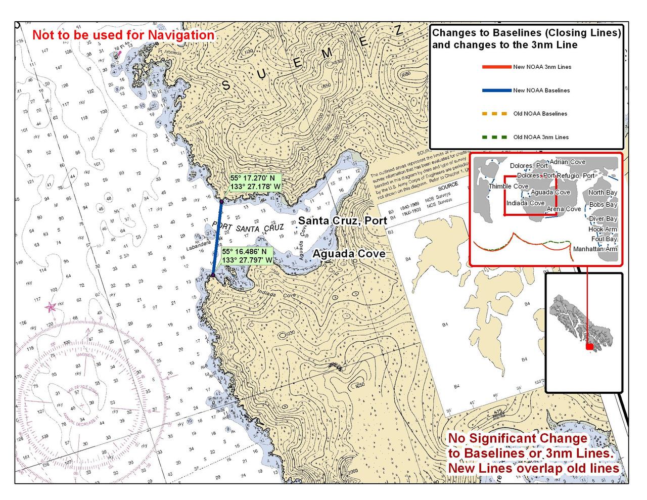 Chart for Port Santa Cruz