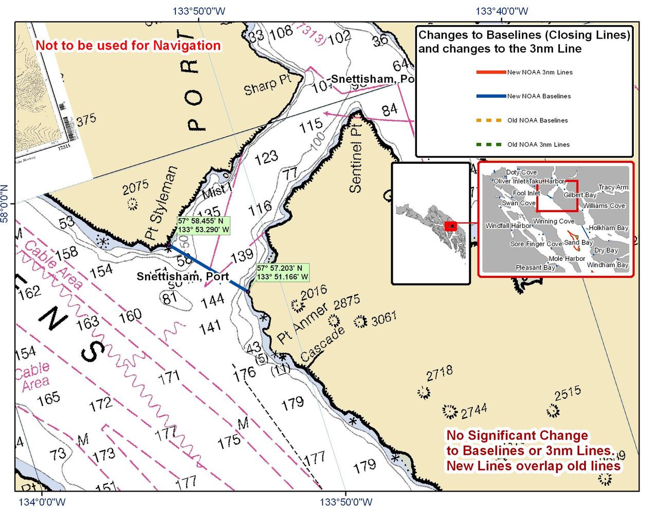 Chart for Port Snettisham