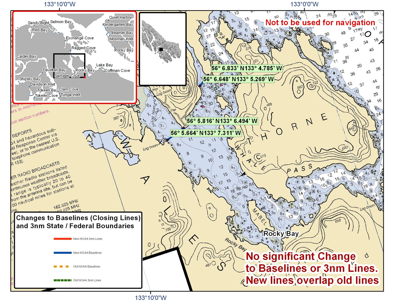 Chart for Rocky Bay and the Surrounding Area
