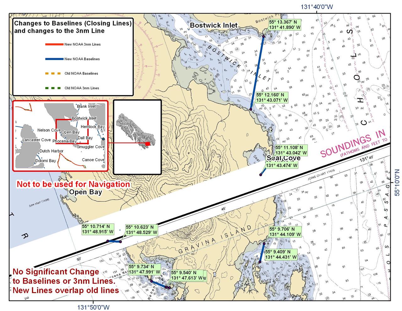 Chart for S. Gravina Island