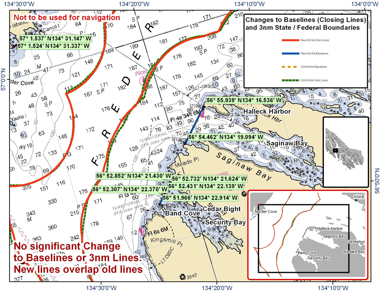 Chart for Saginaw Bay and the Surrounding Area