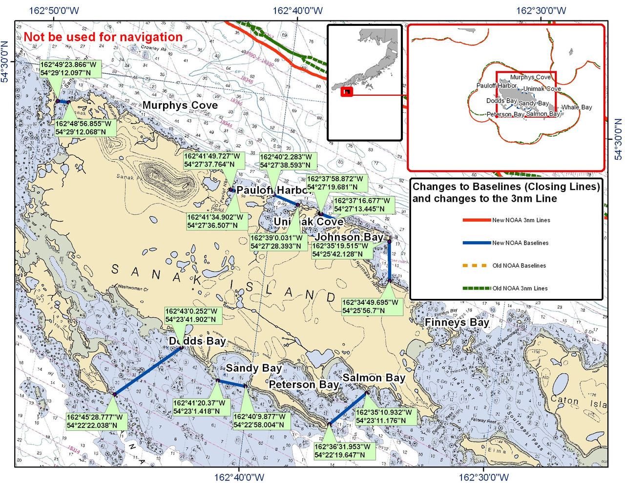 Chart for Sanak Island