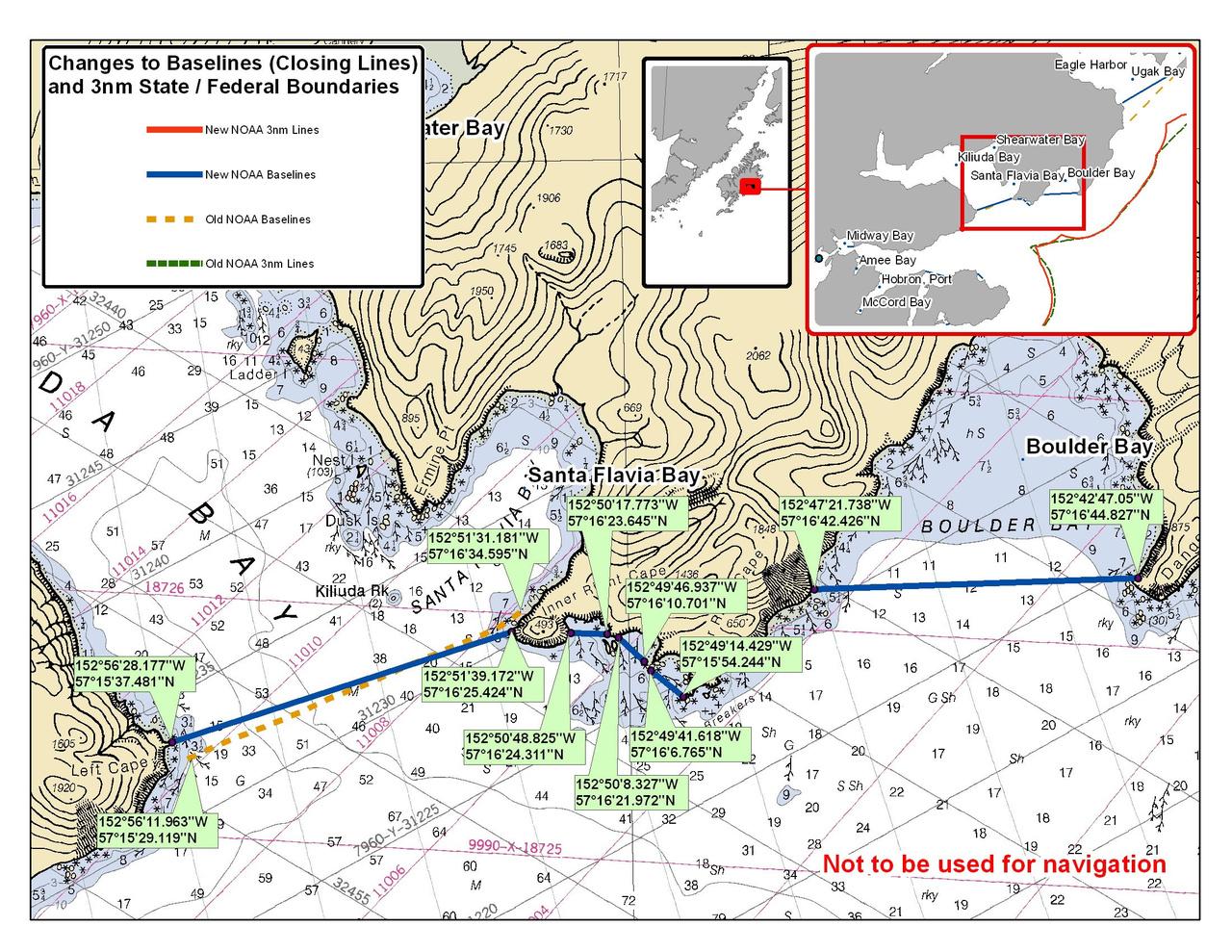 Chart for Santa Flavia and Boulder Bay