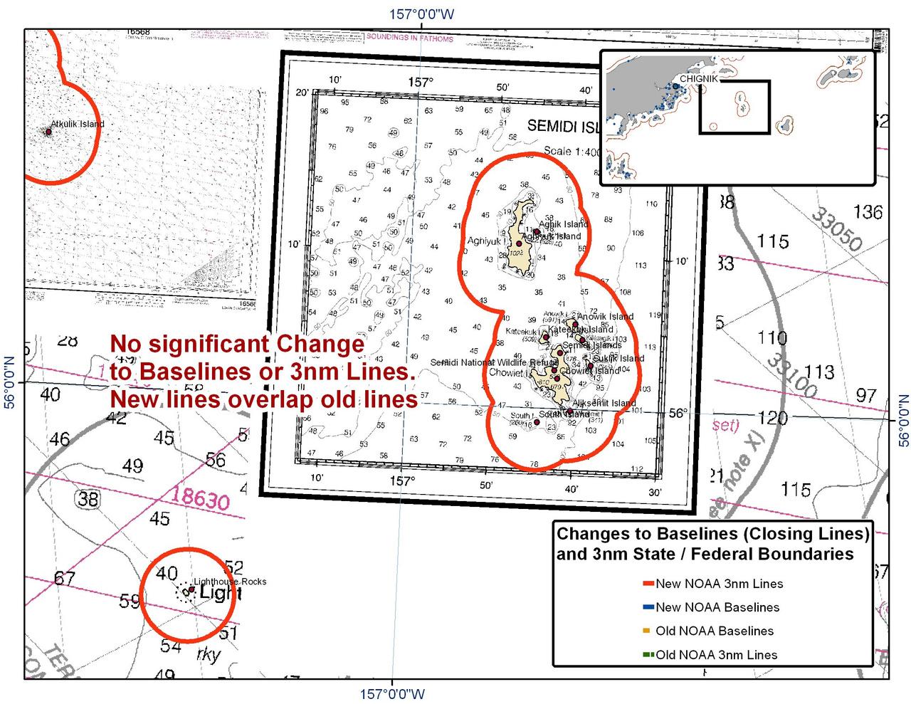 Chart for the Semidi Islands