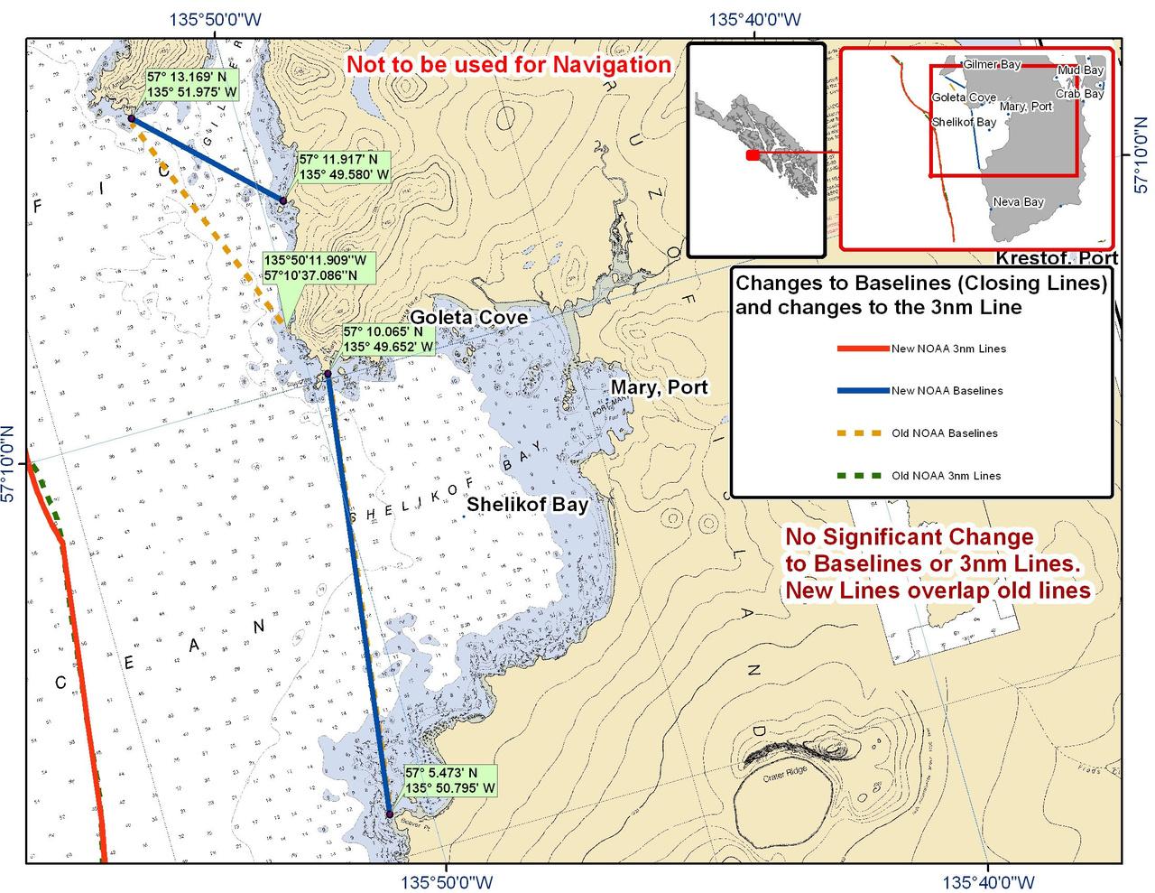 Chart for Shelikof Bay