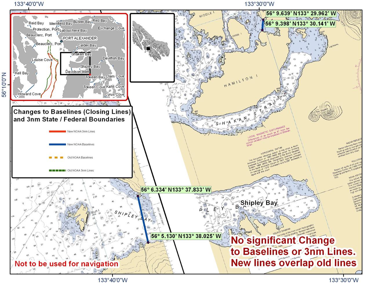 Chart for Shipley Bay