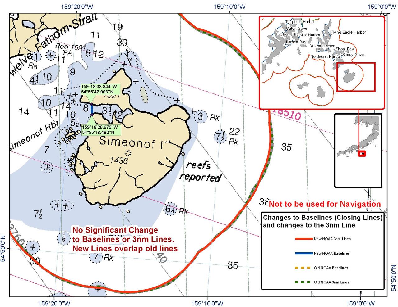 Chart for Simeonof Island