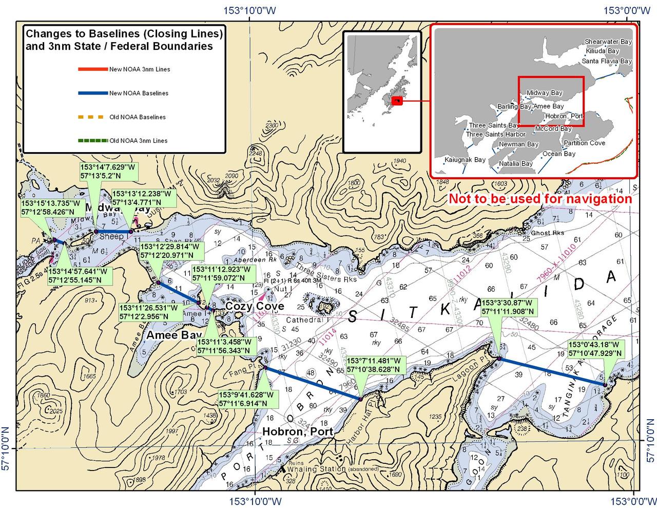 Chart for Sitkalidak Strait