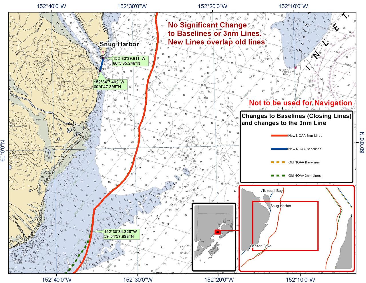 Chart for Snug Harbor
