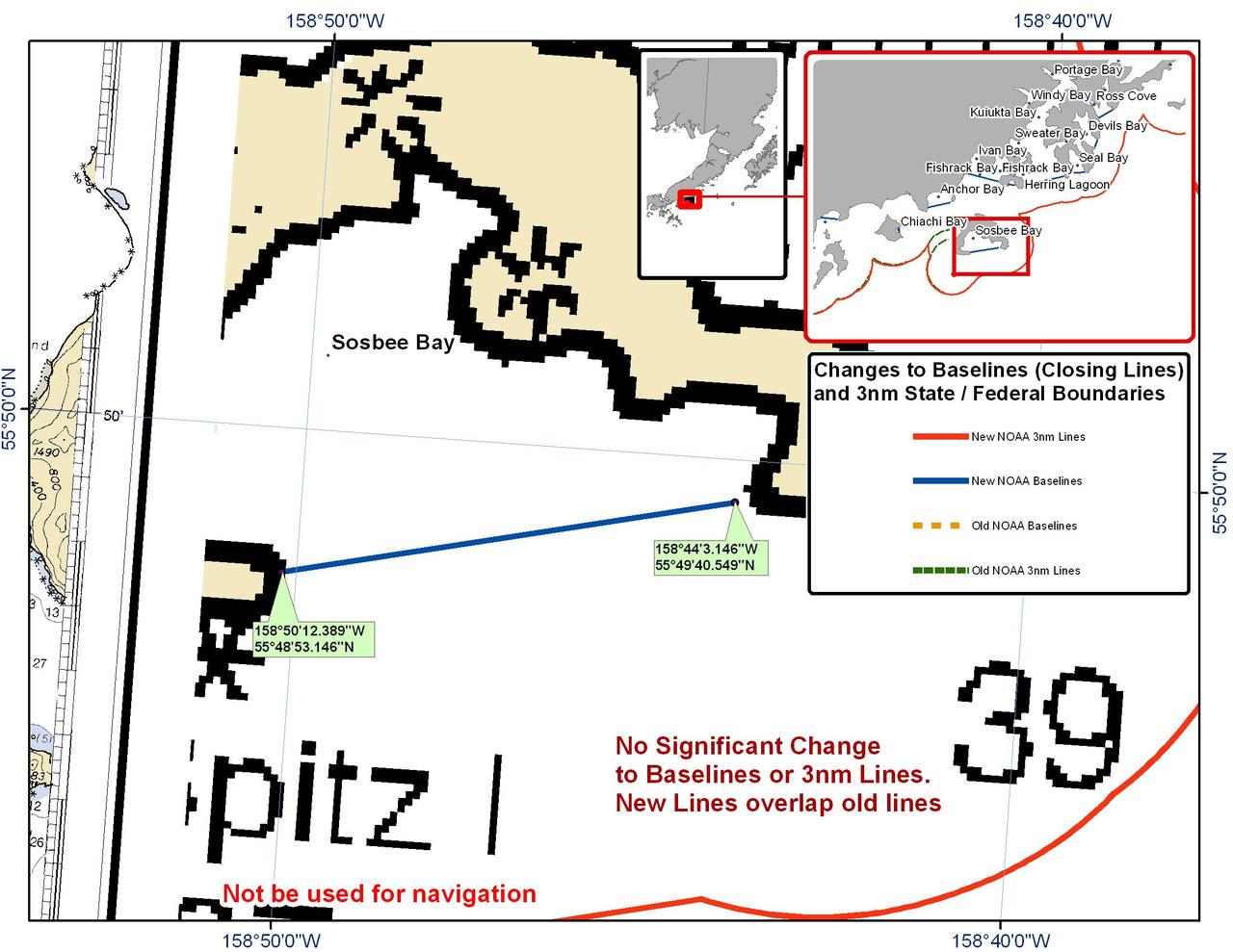 Chart for Sosbee Bay
