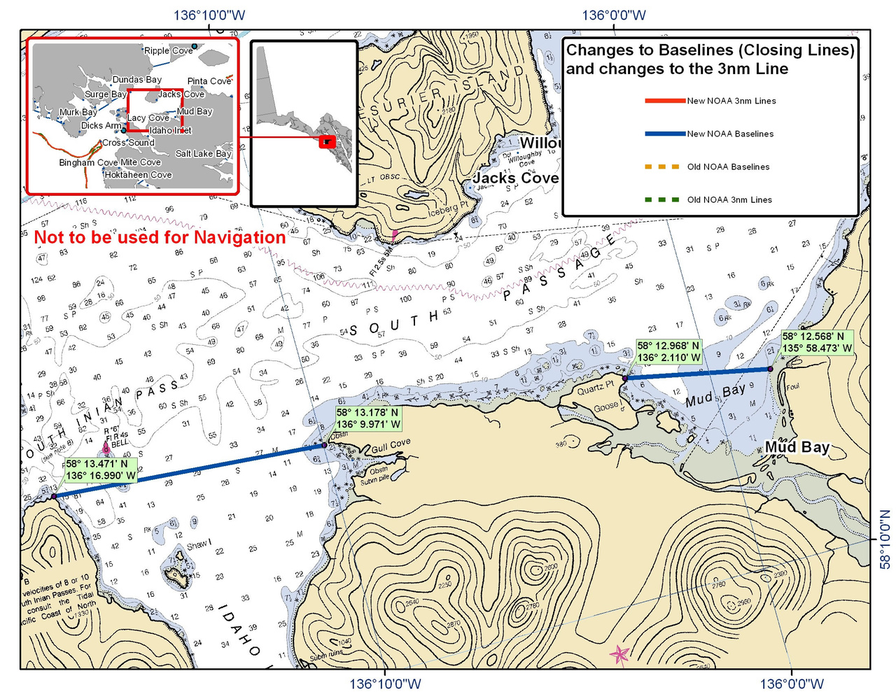 Chart for South Passage