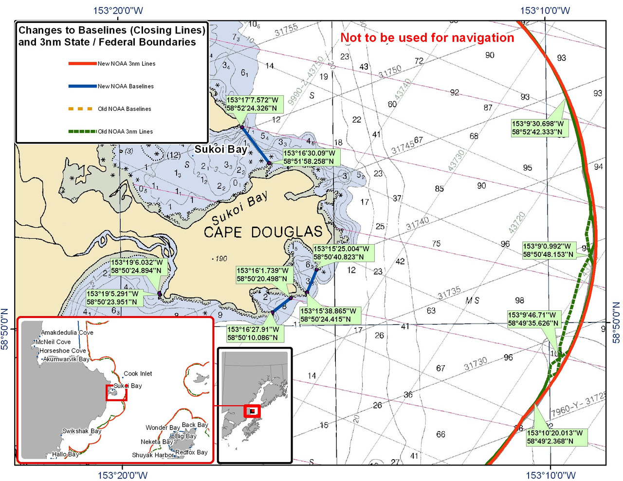 Chart for Sukoi Bay