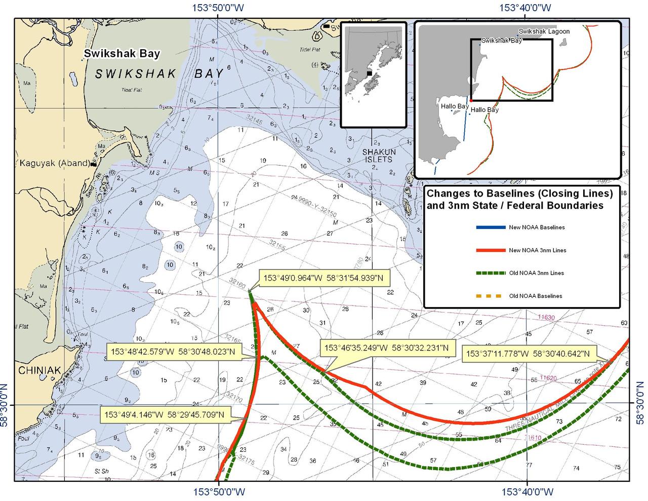 Chart for Swikshak Bay