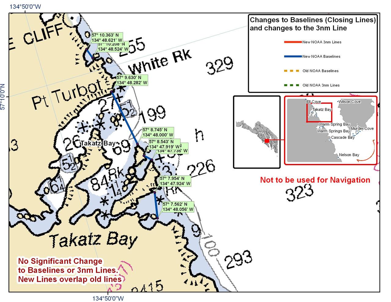 Chart for Takatz Bay