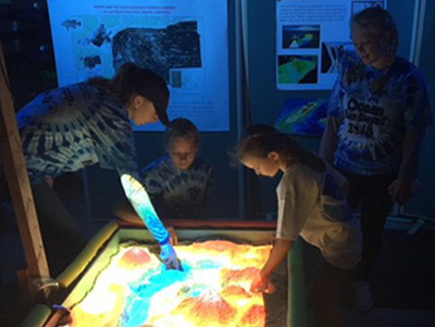 Sandy Hook topography exhibit.