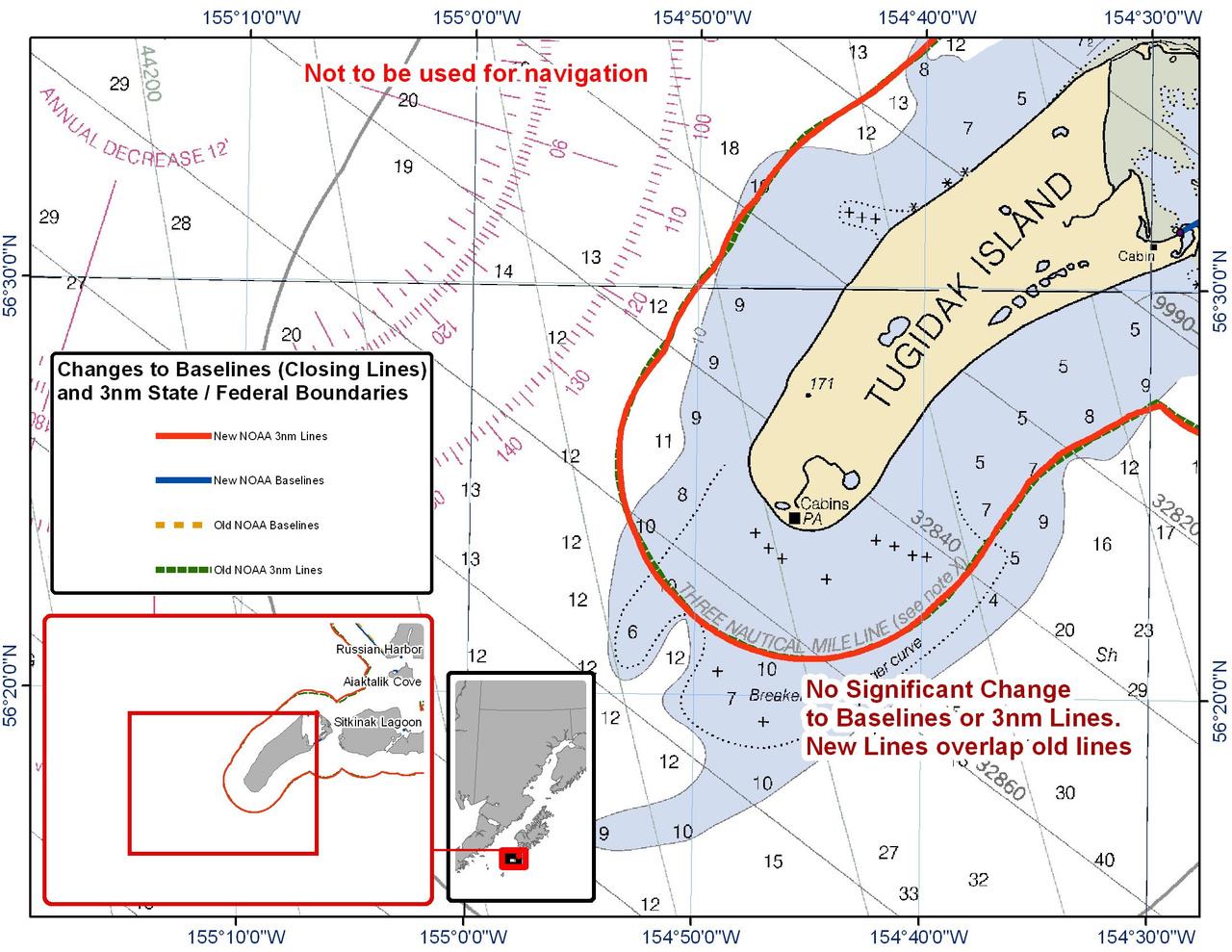 Chart for Tugidak Island