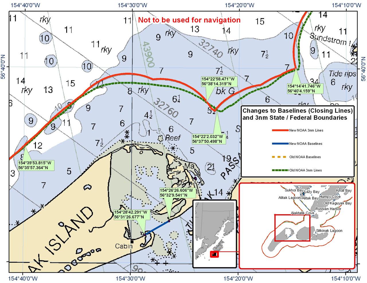 Chart for Tugidak Pass and the Surrounding Waters