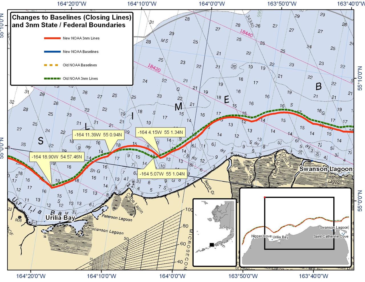 Urilia Bay - Alaska Peninsula North - 3nm Line