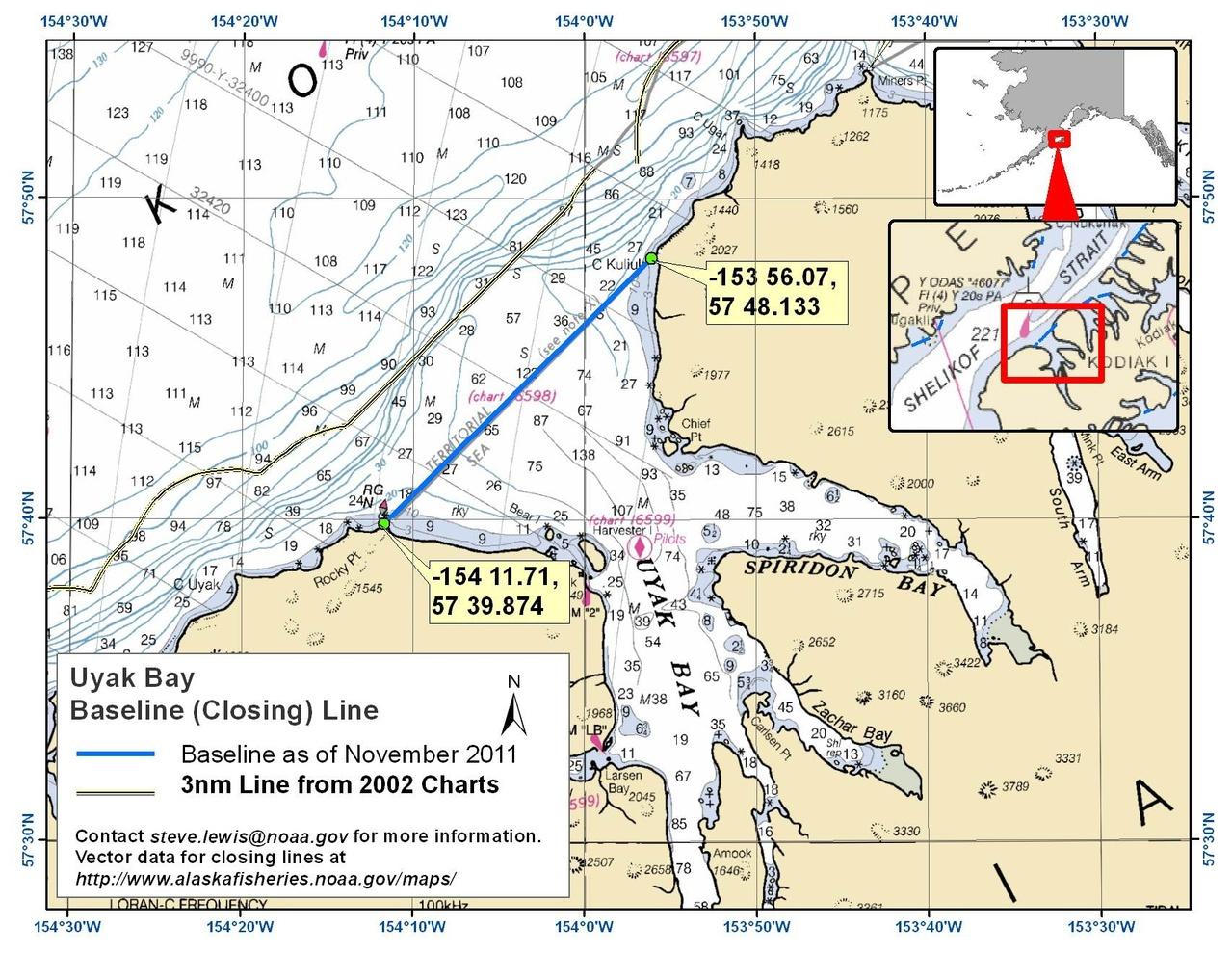Chartlet for Uyak Bay