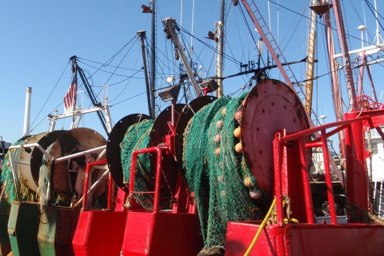 Fishing nets at harbor