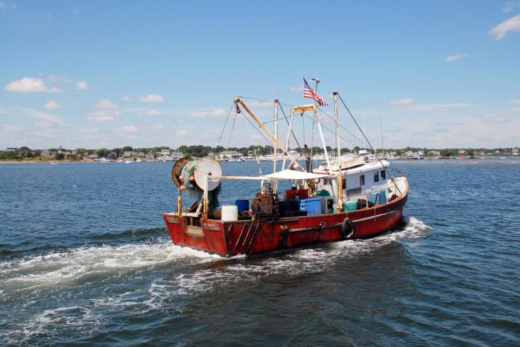 Fishing vessel in Point Judith, Rhode Island.