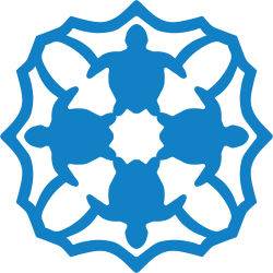 Graphic of sea turtle snowflake template