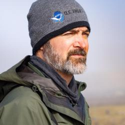 photo of biologist Doug Krause in the field