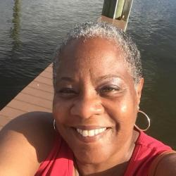 Gail Haynie enjoying some time on the water.