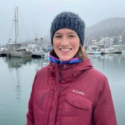 Photo of Dr. Marysia Szymkowiak in a marina.